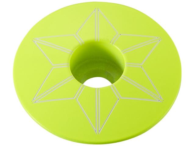 Supacaz Star Capz Ahead-Kappe pulverbeschichtet neon gelb